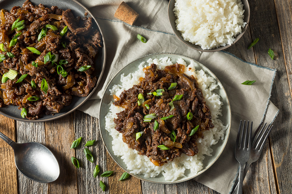 Bulgogi served over rice