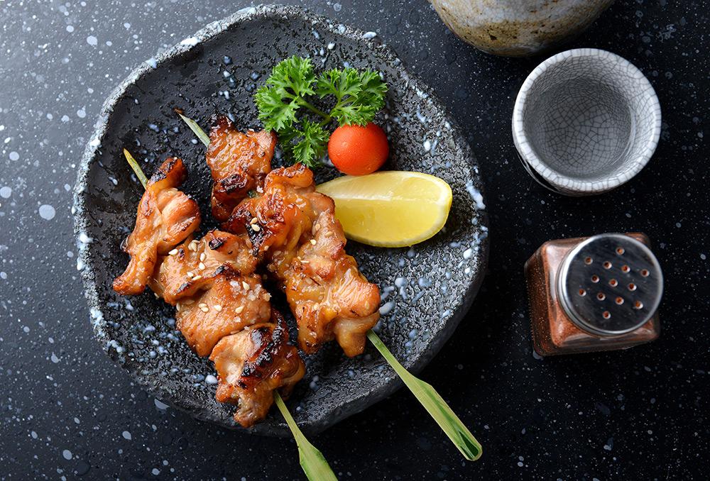 Yakitori, a skewered meat