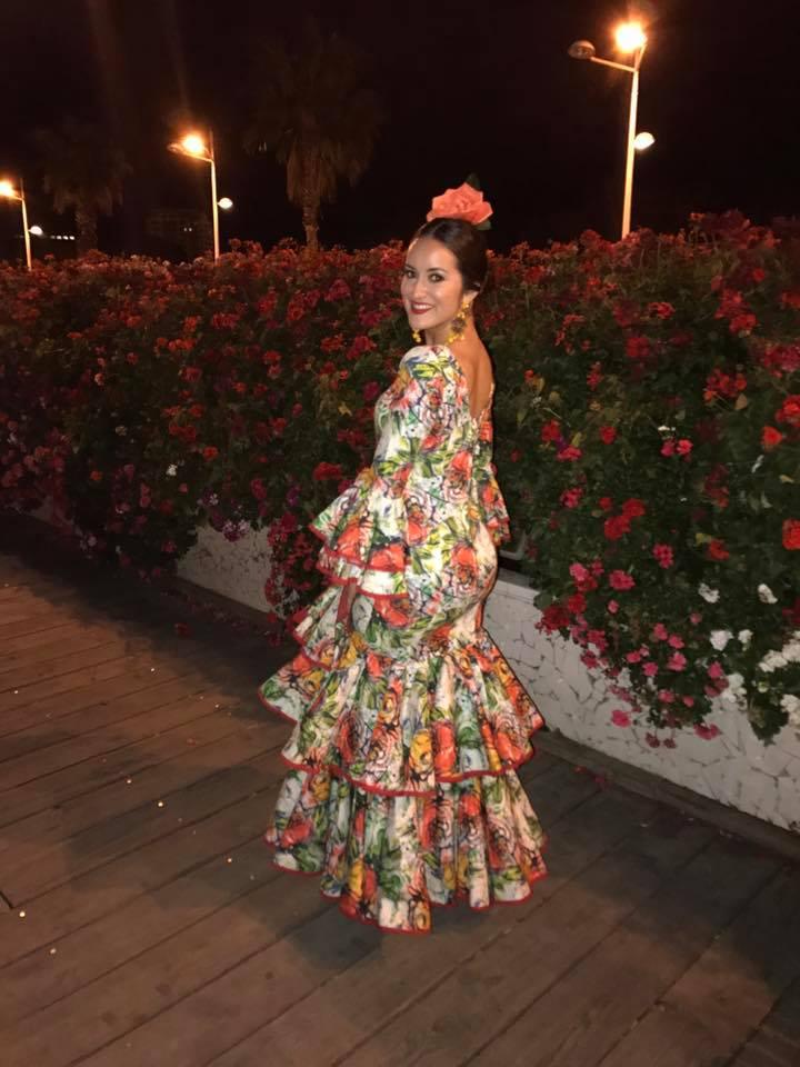 Olivarez wearing traditional clothing in Valencia.