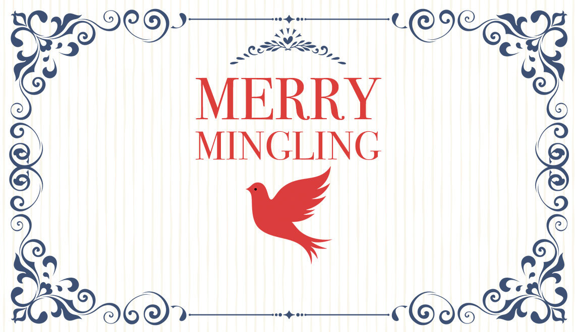 Merry Mingling Festive Foods title card