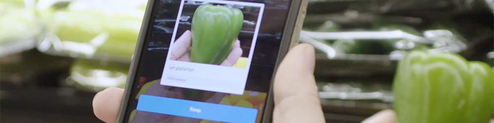 Translating vegetable names with an app