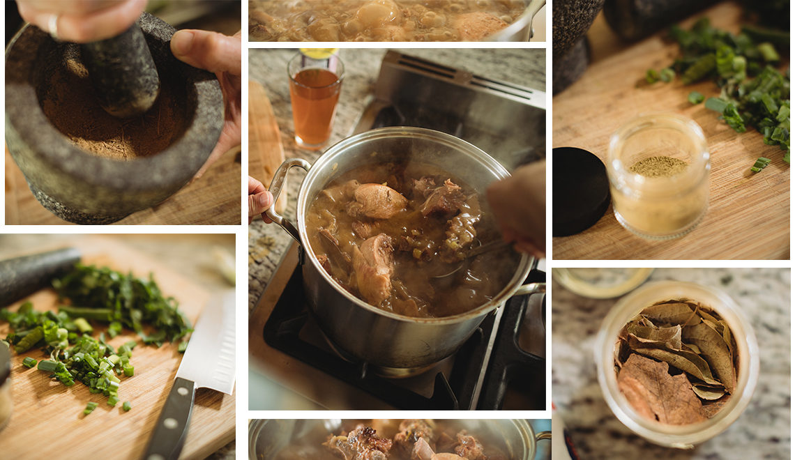 Cooking French Gumbo in Louisiana