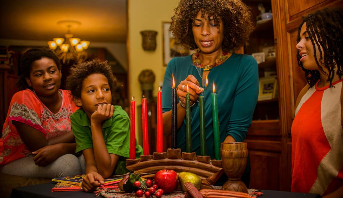 Family Kwanzaa celebration
