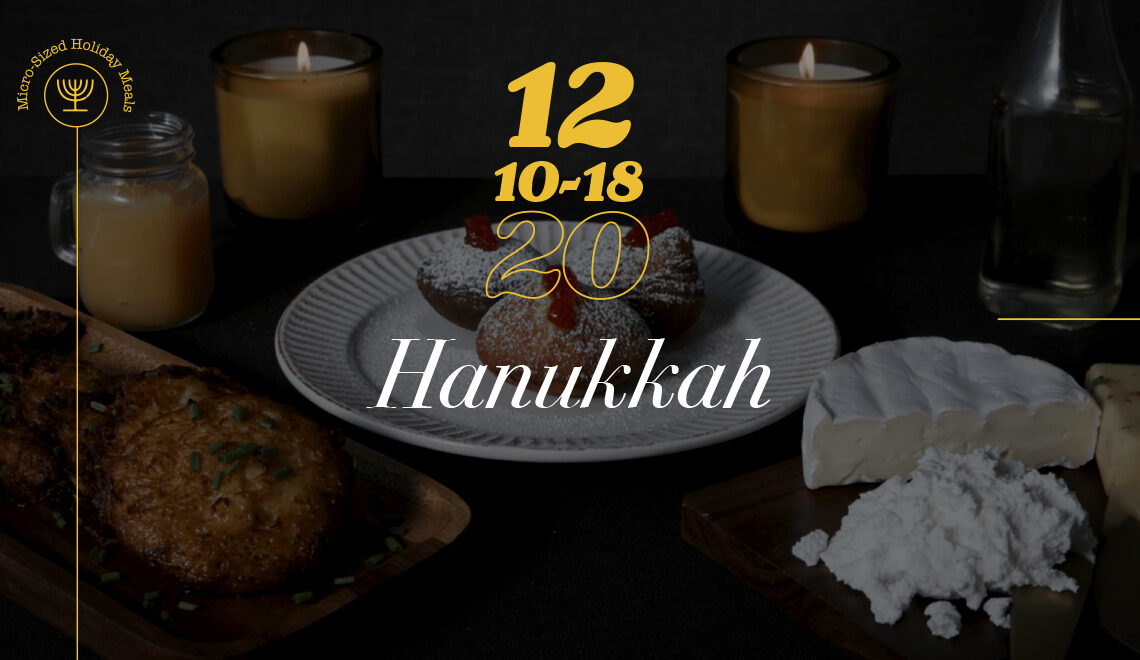Celebrating with traditional Hanukkah foods