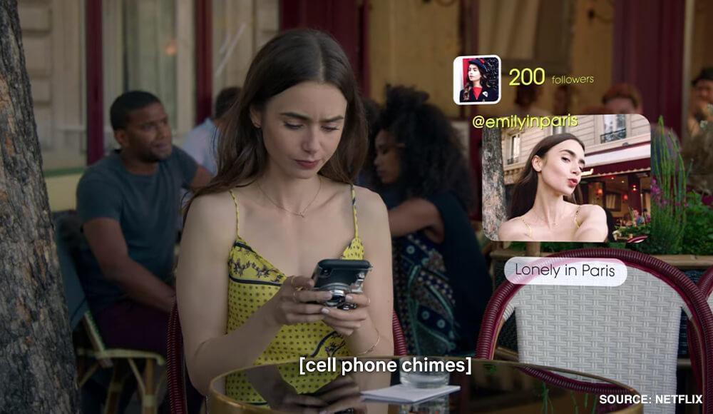Emily in Paris experiences loneliness