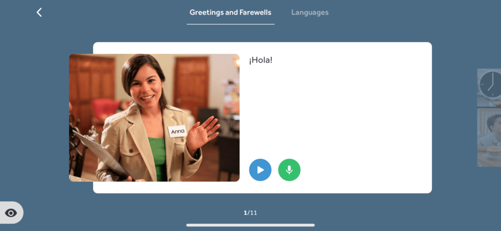 Learn how to say hello in Spanish with Rosetta Stone's apps feature, Phrasebook